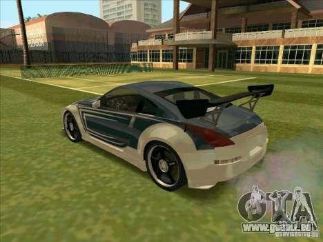 Nissan 350Z Chay from FnF 3 pour GTA San Andreas laissé vue