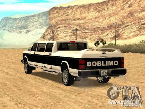 Limousine BOBCAT pour GTA San Andreas laissé vue