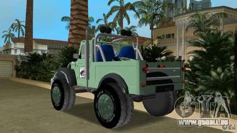 Aro M461 Offroad Tuning pour GTA Vice City sur la vue arrière gauche