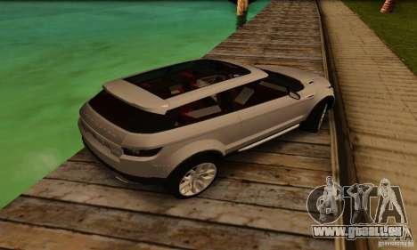 Land Rover Range Rover Evoque pour GTA San Andreas vue arrière