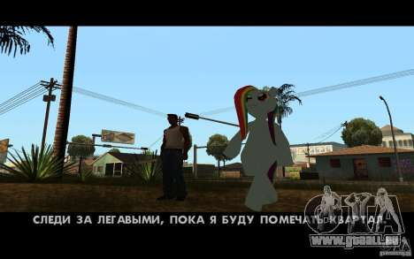 Rainbow Dash Skin für GTA San Andreas her Screenshot