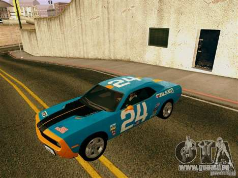 Dodge Challenger SRT8 pour GTA San Andreas vue de dessous