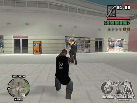 50cent-débardeur pour GTA San Andreas quatrième écran