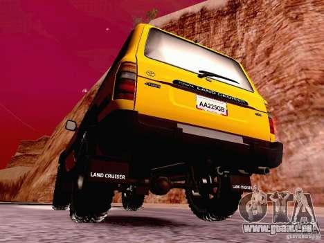 Toyota Land Cruiser 80 Off Road Rims pour GTA San Andreas sur la vue arrière gauche