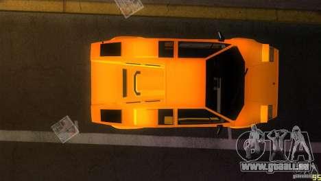 Lamborghini Countach pour une vue GTA Vice City de l'intérieur