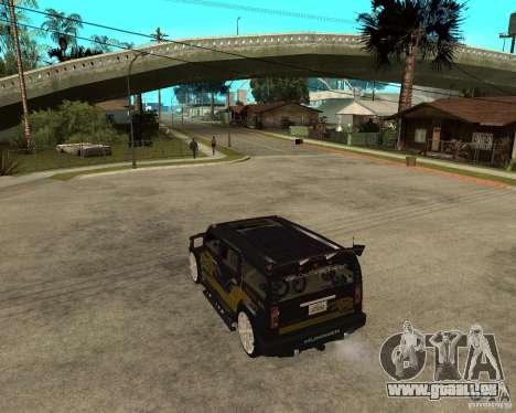 H2 HUMMER DUB LOWRIDE pour GTA San Andreas laissé vue