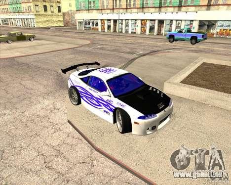 Mitsubishi Eclipse street tuning für GTA San Andreas obere Ansicht