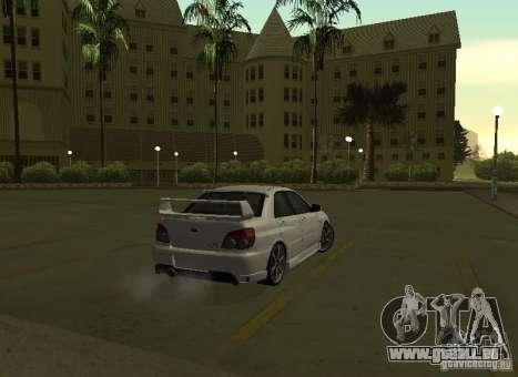 Subaru Impreza WRX STI-Street Racing pour GTA San Andreas vue de dessus