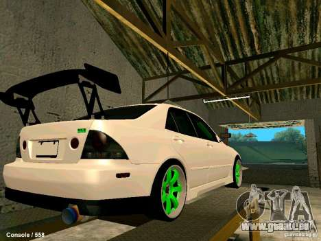 Toyota Altezza pour GTA San Andreas vue de droite