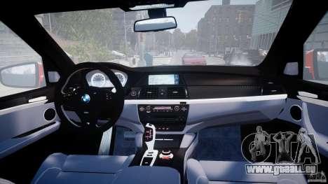 BMW X5M Chrome für GTA 4 Unteransicht