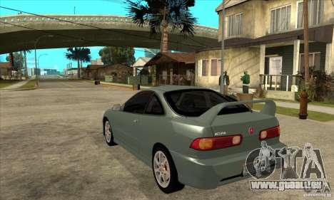Acura Integra Type-R - Stock pour GTA San Andreas sur la vue arrière gauche
