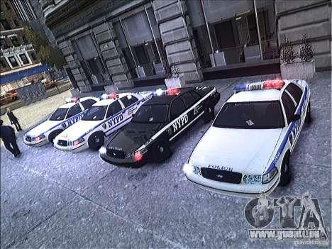 Ford Crown Victoria NYPD 2012 pour GTA 4 vue de dessus