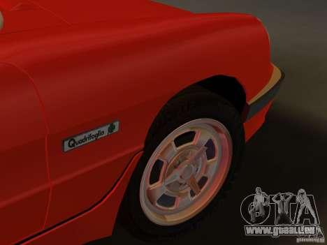 Alfa Romeo Spider 1986 für GTA Vice City Rückansicht