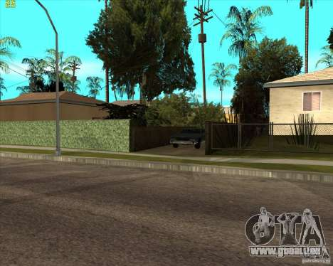 Car in Grove Street für GTA San Andreas her Screenshot