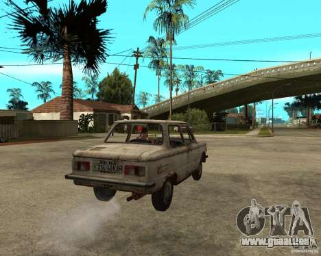 ZAZ 968 m für GTA San Andreas zurück linke Ansicht