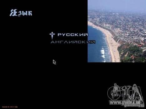 Nouveau menu dans le style de Los Angeles pour GTA San Andreas sixième écran