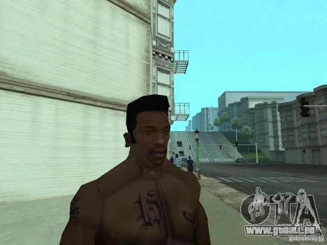 LE NOUVEAU VISAGE DE CJ pour GTA San Andreas huitième écran