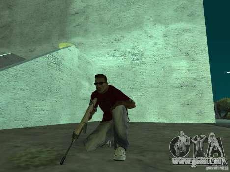 FN Scar-L HD für GTA San Andreas sechsten Screenshot