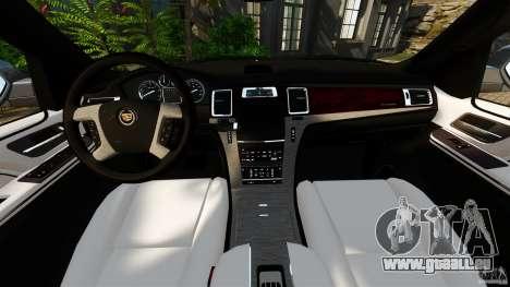 Cadillac Escalade ESV 2012 für GTA 4 Rückansicht