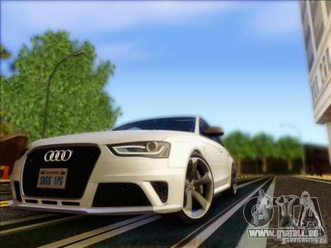 Audi RS4 Avant B8 2013 für GTA San Andreas linke Ansicht