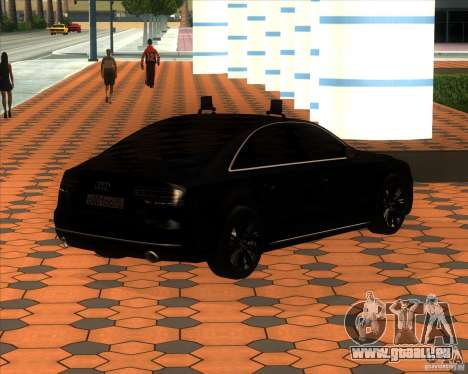 Audi A8 2010 v2.0 pour GTA San Andreas vue intérieure