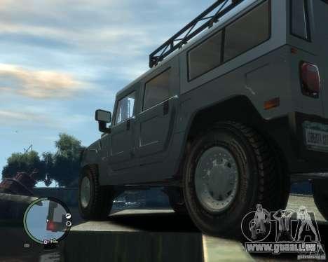 Hummer H1 für GTA 4 Seitenansicht