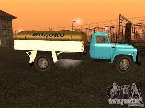 GAZ 53 Milch tanker für GTA San Andreas linke Ansicht