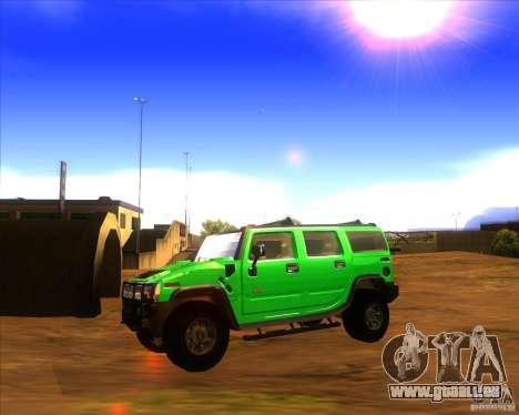 Hummer H2 updated für GTA San Andreas linke Ansicht