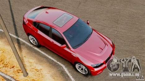BMW X6 M 2010 für GTA 4 rechte Ansicht