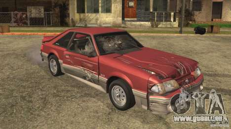 Ford Mustang GT 5.0 1993 für GTA San Andreas obere Ansicht