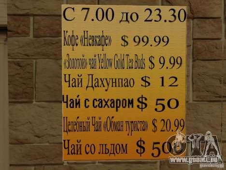 Nouveau Burgershot : ČajničeG or pour GTA San Andreas quatrième écran