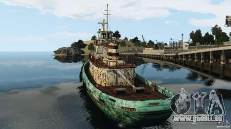 Realistic Rusty Tugboat für GTA 4 hinten links Ansicht