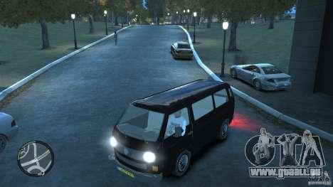 Volkswagen Transporter T3 pour GTA 4 est une vue de dessous