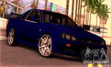Nissan Skyline R34 GT-R Tunable für GTA San Andreas
