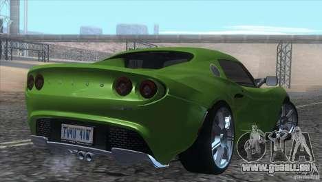 Lotus Elise für GTA San Andreas Unteransicht