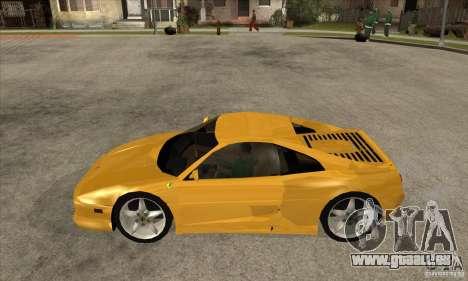 Ferrari F355 GTS pour GTA San Andreas laissé vue