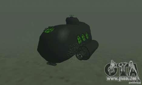 Sous-marin pour GTA San Andreas sur la vue arrière gauche