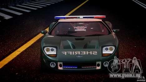 Ford GT1000 Hennessey Police 2006 [EPM][ELS] pour GTA 4 est une vue de dessous