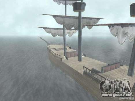 Bateau pirate pour GTA San Andreas deuxième écran