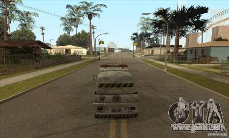 Balayeur de rue de travail pour GTA San Andreas quatrième écran