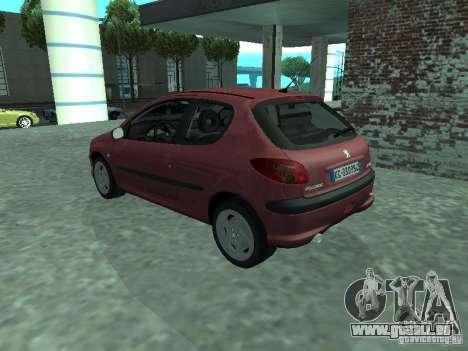 Peugeot 206 HDi 2003 pour GTA San Andreas laissé vue