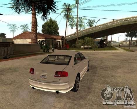 Audi A8 2003 für GTA San Andreas zurück linke Ansicht