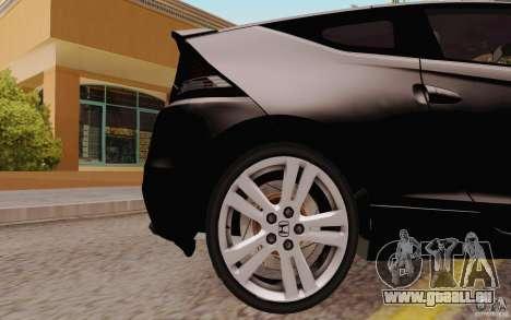 Honda CR-Z 2010 V3.0 pour GTA San Andreas vue arrière