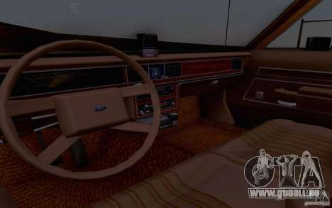 Ford Crown  Victoria LTD 1985 taxi pour GTA San Andreas vue arrière