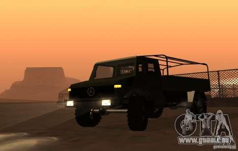 Mercedes-Benz Unimog für GTA San Andreas zurück linke Ansicht