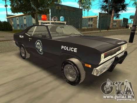 Plymout Duster 340 POLICE v2 pour GTA San Andreas vue arrière