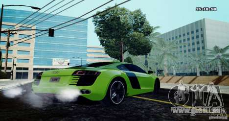 Audi R8 Light Tuned Version pour GTA San Andreas laissé vue