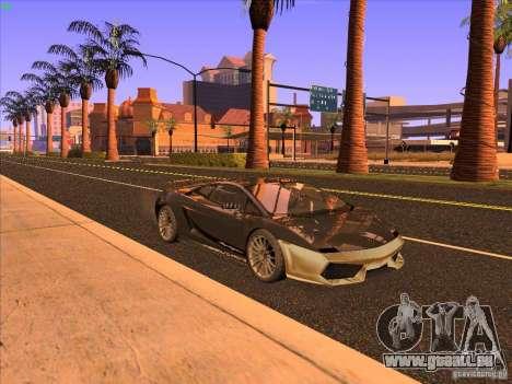 Lamborghini Gallardo Underground Racing pour GTA San Andreas laissé vue