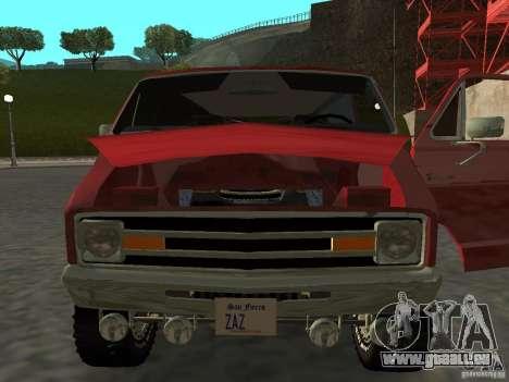 Dodge Tradesman 7z für GTA San Andreas zurück linke Ansicht