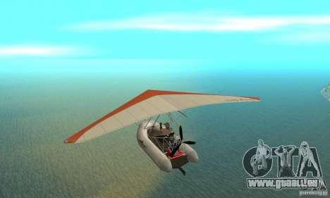 Wingy Dinghy (Crazy Flying Boat) für GTA San Andreas zurück linke Ansicht